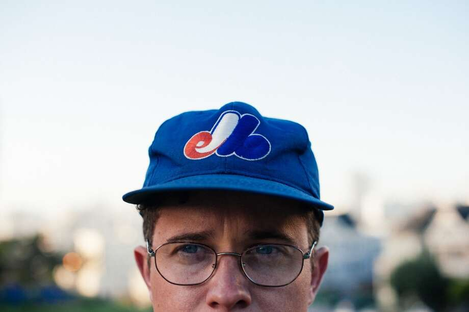 He liked the colors of this thrifted  Montreal Expos Hat. Photo: William C Rittenhouse