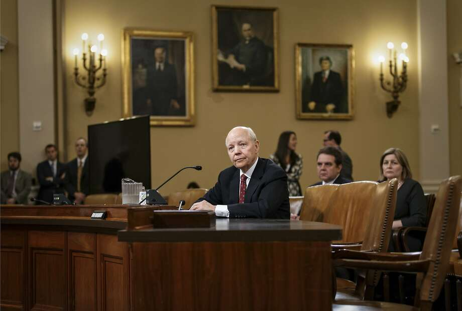 Internal Revenue Service Commissioner John Koskinen faces the House Ways and Means Committee on their continuing probe of whether tea party groups were improperly targeted for increased scrutiny by the IRS, on Capitol Hill in Washington, Friday, June 20, 2014. The IRS asserts it can't produce emails from seven officials connected to the tea party investigation because of computer crashes, including the emails from Lois Lerner, the former IRS official at the center of the investigation who has invoked her Fifth Amendment right at least nine times to avoid answering lawmakers' questions.   (AP Photo/J. Scott Applewhite) Photo: J. Scott Applewhite, Associated Press