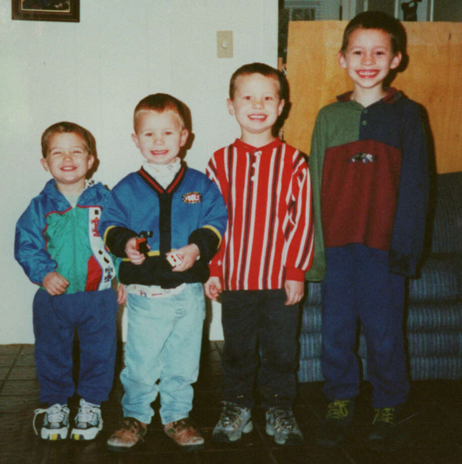 In a photo provided, Thursday, by Russell Yates, are his sons, (L to R) Luke, Paul, John and Noah.  The boys, together with their sister, Mary, were drown in their home in the Houston suburb of Clear Lake, yesterday, by their mother, Andrea Yates, who confessed to the killings.  The dead are:  Noah (age 7), John (age 5), Paul (age 3), Luke (age 2) and Mary (6 months). Credit: family handout Photo: Steve Ueckert, Family Photo / handout