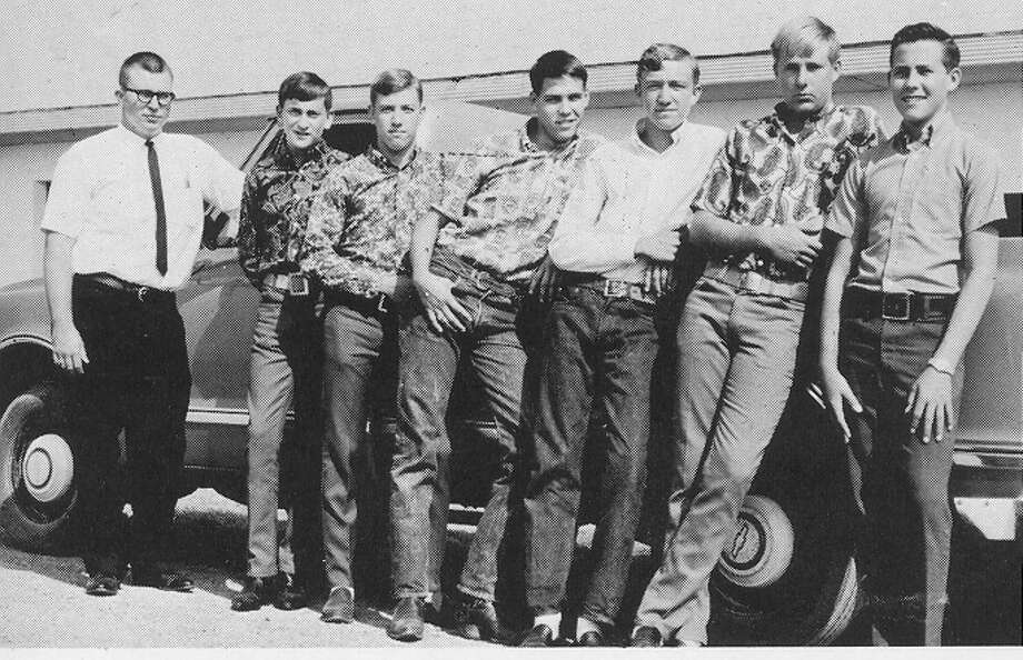 Rick Perry (third from left) with fellow officers of the Future Farmers of America from his 1968 high school yearbook.  Photo: Courtesy Paint Creek ISD