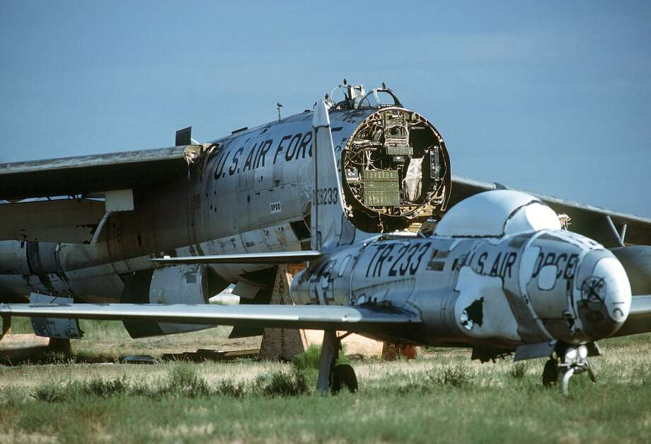 "2. ""Aircraft Boneyard,"" Tucson, Ariz. A  dismantled B-47 Stratojet is among the more than 2,500 aircraft stored at the Aerospace Maintenance and Regeneration Center (AMARG), better known as the Aircraft Bone Yard,  at Davis-Monthan Air Force Base. The adjacent Pima Air & Space Museum offers exclusive bus tours of the collection of the field of aircraft, most of which are used for parts or eventually put back in service. Photo: Senior Airman Alan R. Wycheck, Wikimedia"