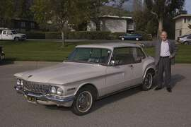 Photos of James Holmes and his 1962 Dodge Lancer GT Coupe. Photographed on March 21, 2014 in Larkspur, CA.