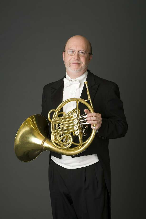 Principal horn player Robert Ward gave a fine perfor- mance in a Britten piece. Photo: SF Symphony