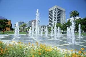 USA, California, San Jose, Silicon Valley, Plaza de Cesar Chavez
