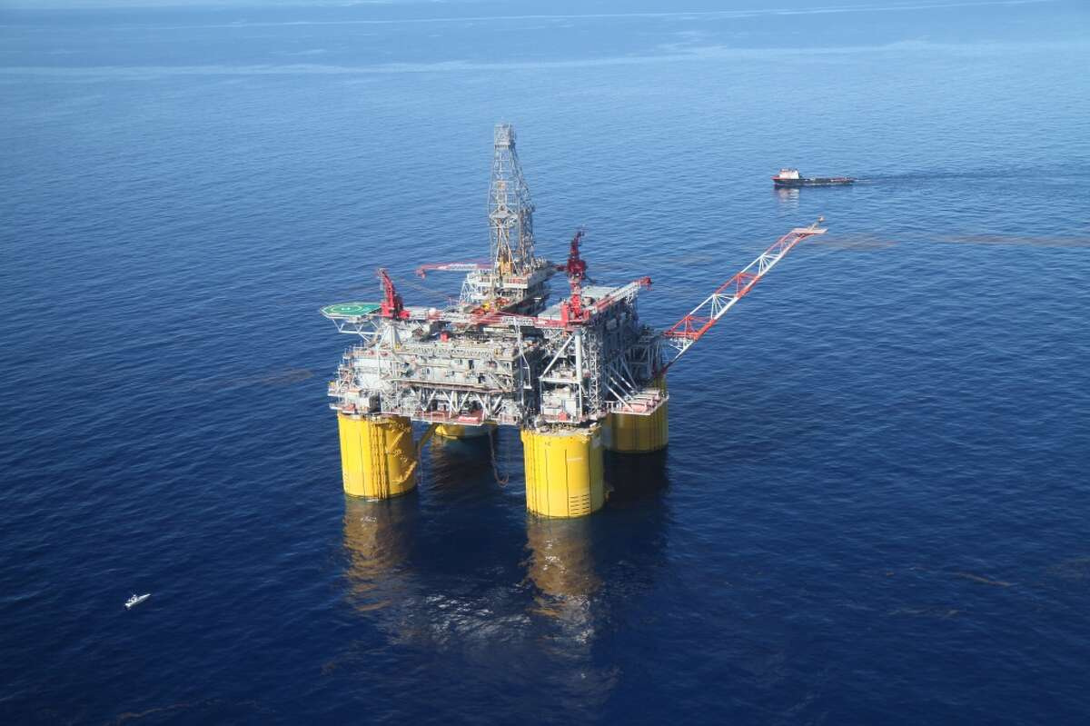 A Shell rig in the Gulf of Mexico.