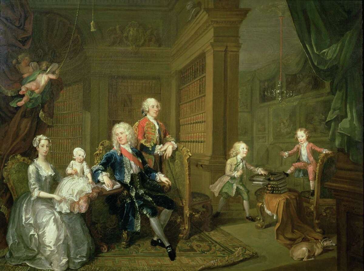 """""""Houghton Hall: Portrait of an English Country House,"""" June 22-Sept. 21 at the Museum of Fine Arts, Houston, will include William Hogarth's """"The Cholmondeley Family."""" ( 1732, oil on canvas, Marquess of Cholmondeley, Houghton Hall.)"""