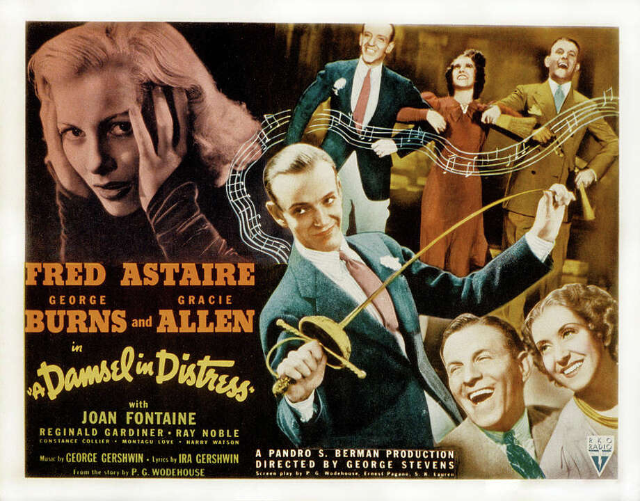 """Fred Astaire, George Burns and Gracie Allen frolic in """"A Damsel in Distress,"""" which kicks off the Senior Center's musical-film series July 11. Westport CT. June 2014. Photo: Westport News/Contributed Photo / Westport News"""