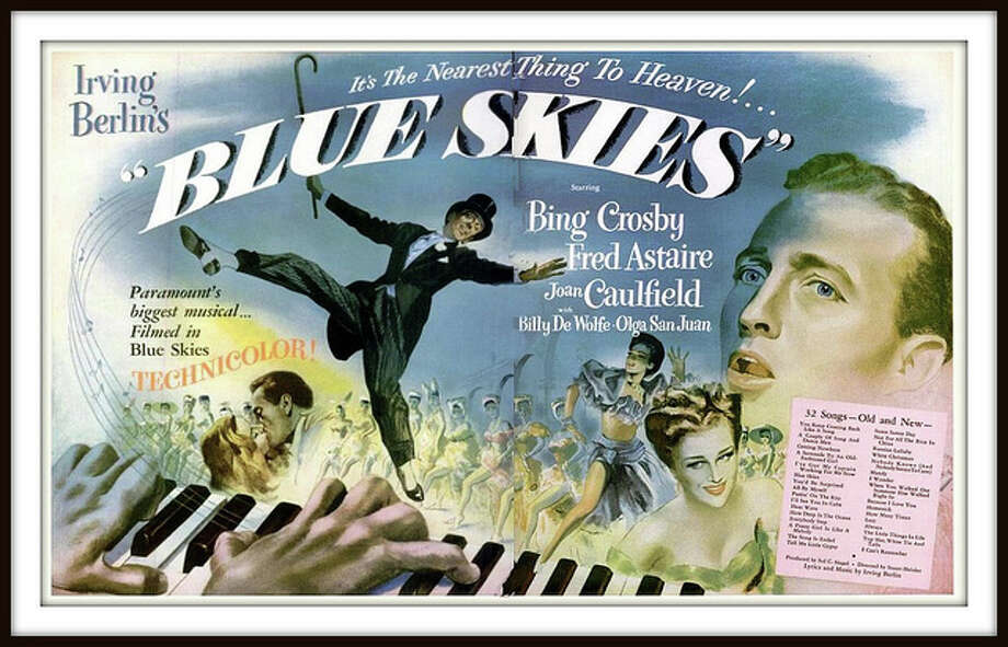 """Blue Skies"" features big production numbers and 30 Irving Berlin songs. The film, being screened Friday, will be the grand finale of the Senior Center's musical-film series. Find out more.  Photo: Westport News/Contributed Photo / Westport News"