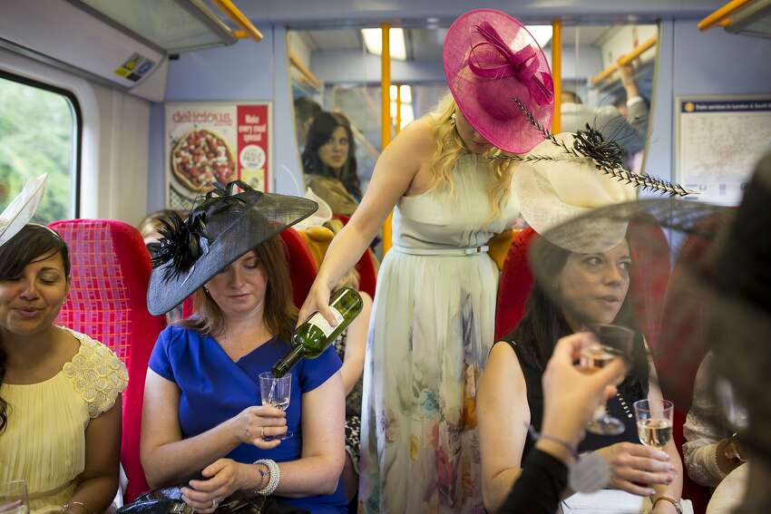 It's all about the journey: Sometimes traveling to Ladies Day at the Royal Ascot race meeting in Ascot, England, is as much fun as Ladies Day at the Royal Ascot race meeting.