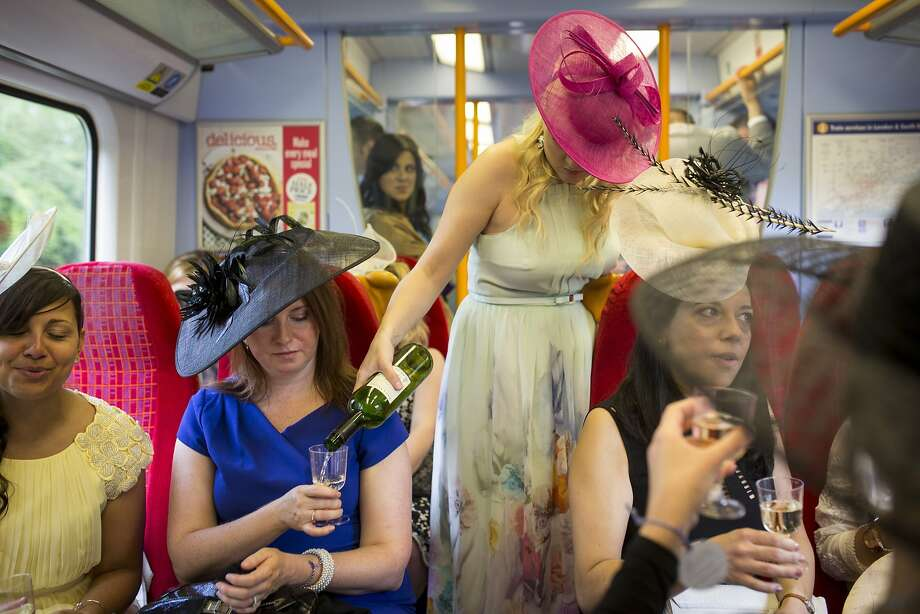 It's all about the journey: Sometimes traveling to Ladies Day at the Royal Ascot race meeting in Ascot, England, is as much fun as Ladies Day at the Royal Ascot race meeting. Photo: Rob Stothard, Getty Images