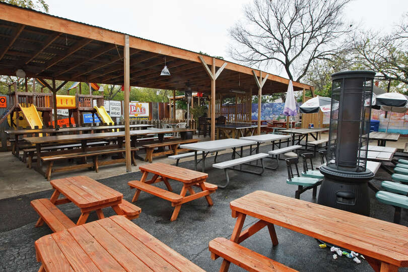 Outdoor dining gold the cove pictured silver for Aldaco s mexican cuisine