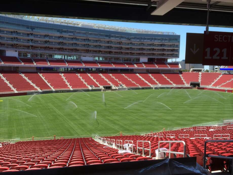 The grass field at Levi's Stadium measures over 100,000 square feet. (Al Saracevic/San Francisco Chronicle)