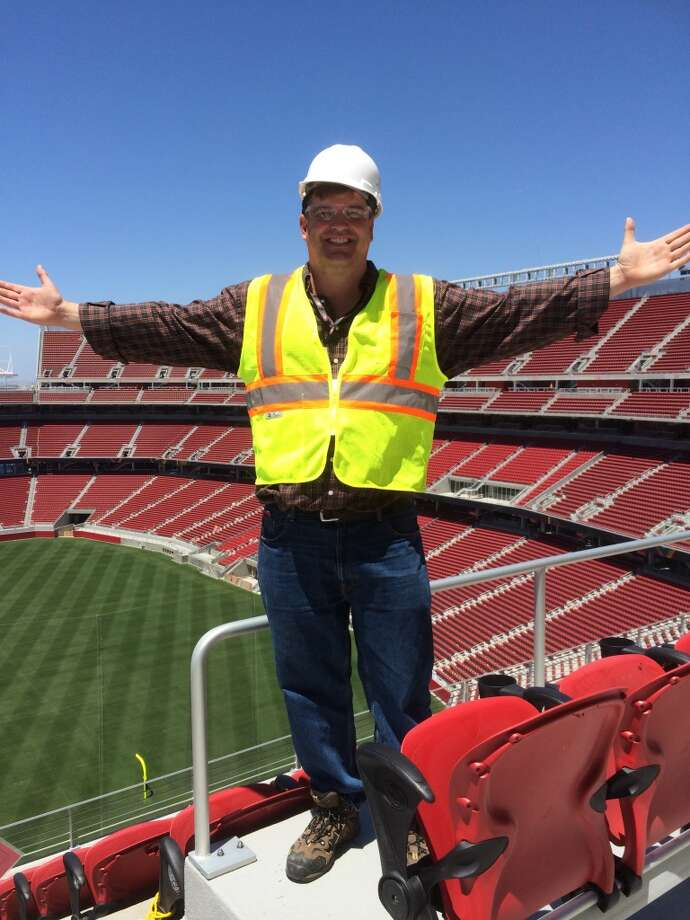 Yours truly atop Levi's Stadium in Santa Clara. (Al Saracevic/San Francisco Chronicle)