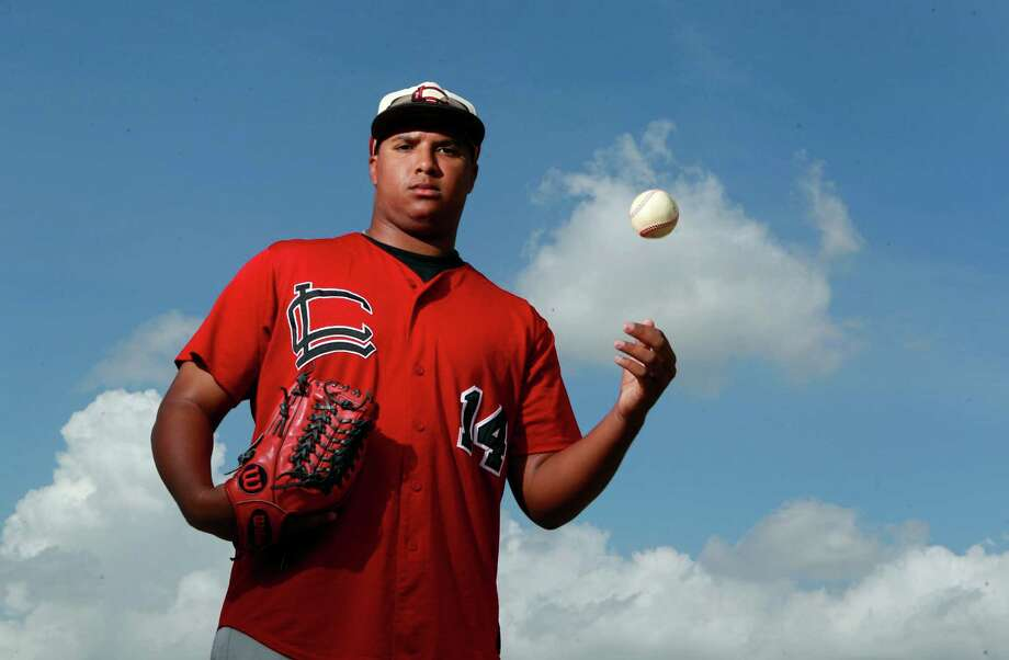 After going 13-0 with 133 strikeouts and a 1.54 earned-run average, Langham Creek lefthander Aaron Fletcher - who started pitching only a year before high school - is headed to the University of Houston. Photo: Melissa Phillip, Staff / © 2014  Houston Chronicle