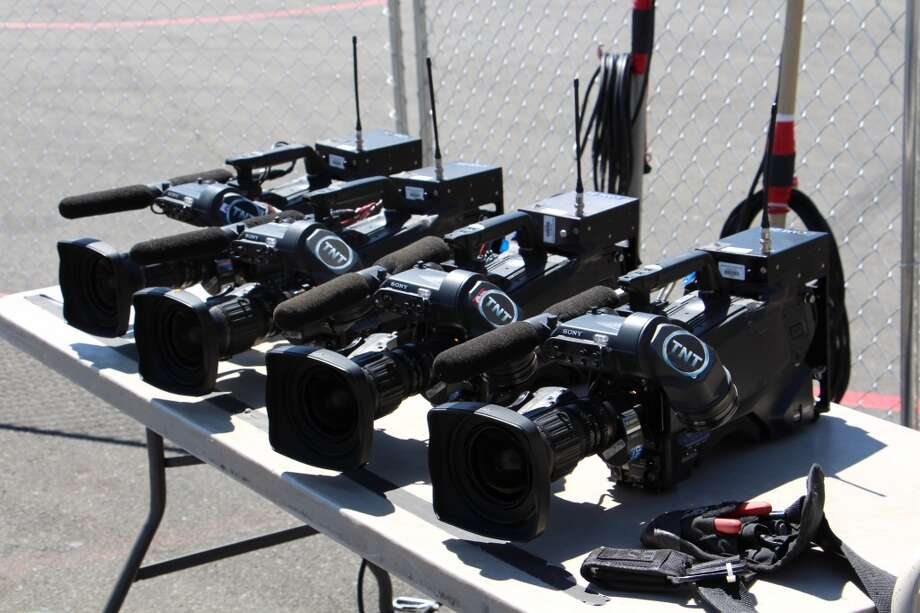 A table of TNT's video cameras.