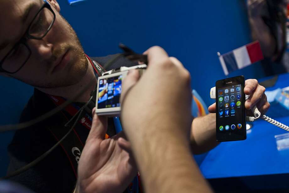 This Huawei Technologies Co. Y300 mobile  device is among those running the Firefox OS. Photo: Angel Navarrete, Bloomberg
