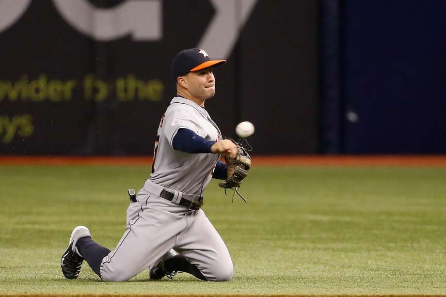 June 20: Astros 3, Rays 1Jose Altuve fields the ball from his knees during the second inning. Photo: Scott Iskowitz, Getty Images