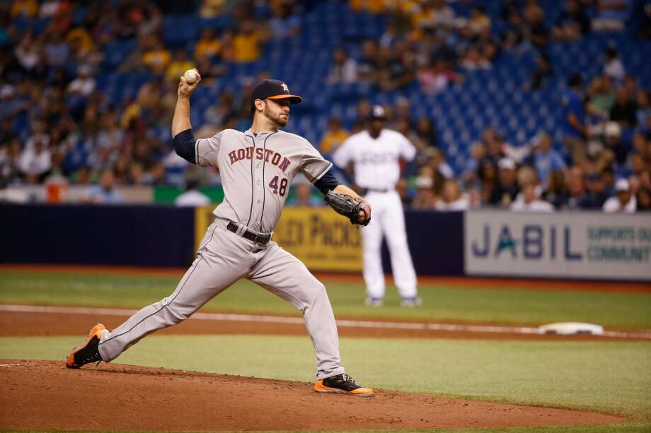 June 20: Astros 3, Rays 1  Jarred Cosart enjoyed a return to the place of his major league debut less than a year ago, tossing eight shutout innings in the Astros' win.  Record: 33-42. Photo: Scott Iskowitz, Getty Images