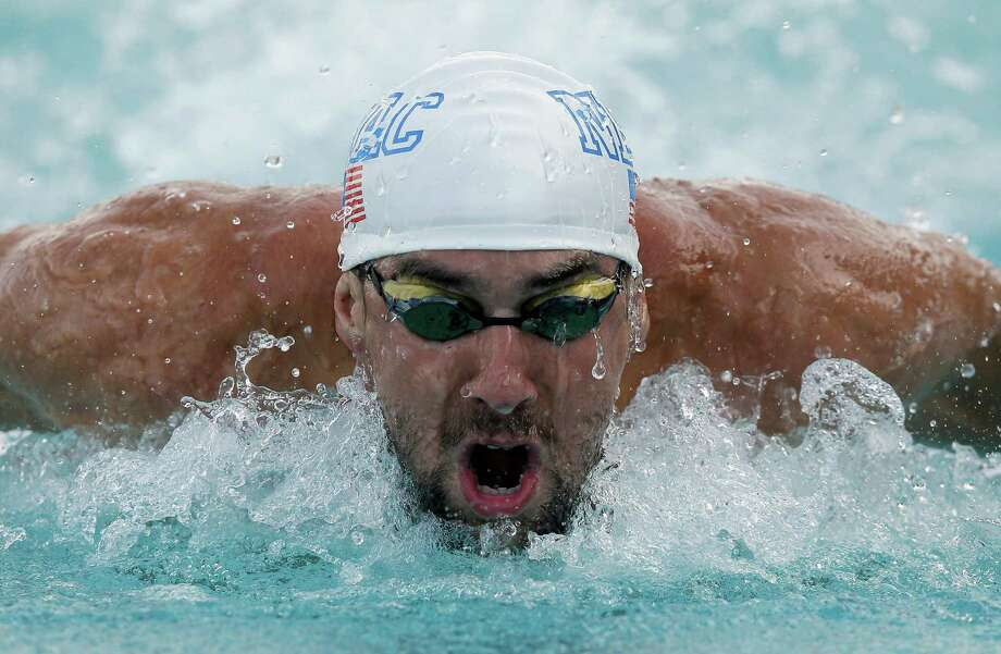 Olympic swimming champion Michael Phelps, competing in his third meet since coming out of retirement, shared the 100-meter butterfly title with Tom Shields at the Grand Prix of Santa Clara on Friday. He also finished second in the 100 freestyle. Photo: Ezra Shaw, Staff / 2014 Getty Images
