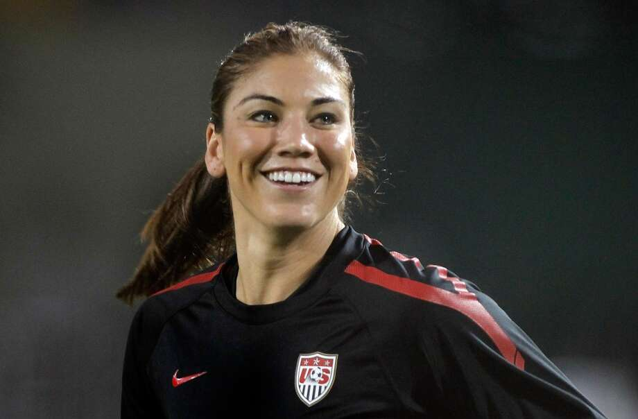 PORTLAND, OR - SEPTEMBER 22:  Goal Keeper Hope Solo #1 of the United States warms up against Canada on September 22, 2011 at Jeld-Wen Field in Portland, Oregon.  (Photo by Jonathan Ferrey/Getty Images) Photo: Getty Images