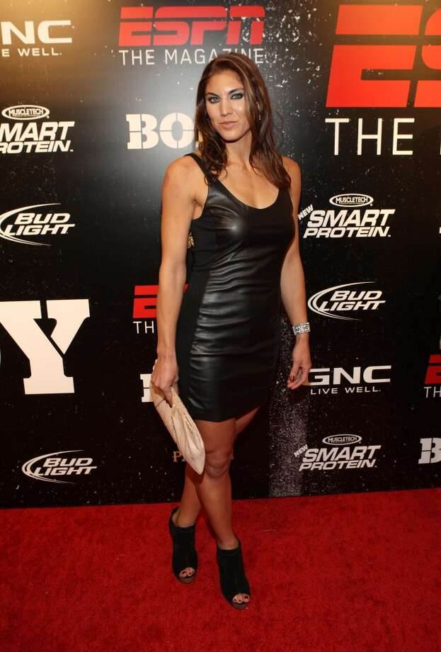 NEW YORK, NY - OCTOBER 06:  Hope Solo attends ESPN the Magazine's 3rd annual Body Issue party at Highline Stages on October 6, 2011 in New York City.  (Photo by Bennett Raglin/WireImage) Photo: WireImage