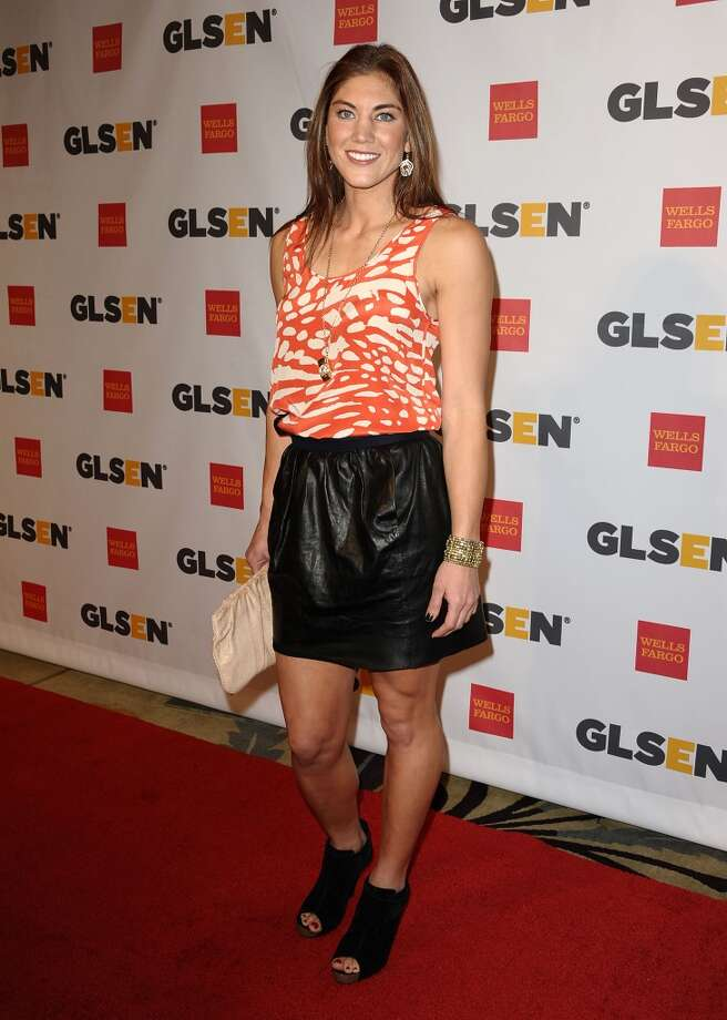 BEVERLY HILLS, CA - OCTOBER 21:  Soccer player Hope Solo attends the 7th Annual GLSEN Respect Awards at the Beverly Hills Hotel on October 21, 2011 in Beverly Hills, California.  (Photo by Jason LaVeris/FilmMagic) Photo: FilmMagic