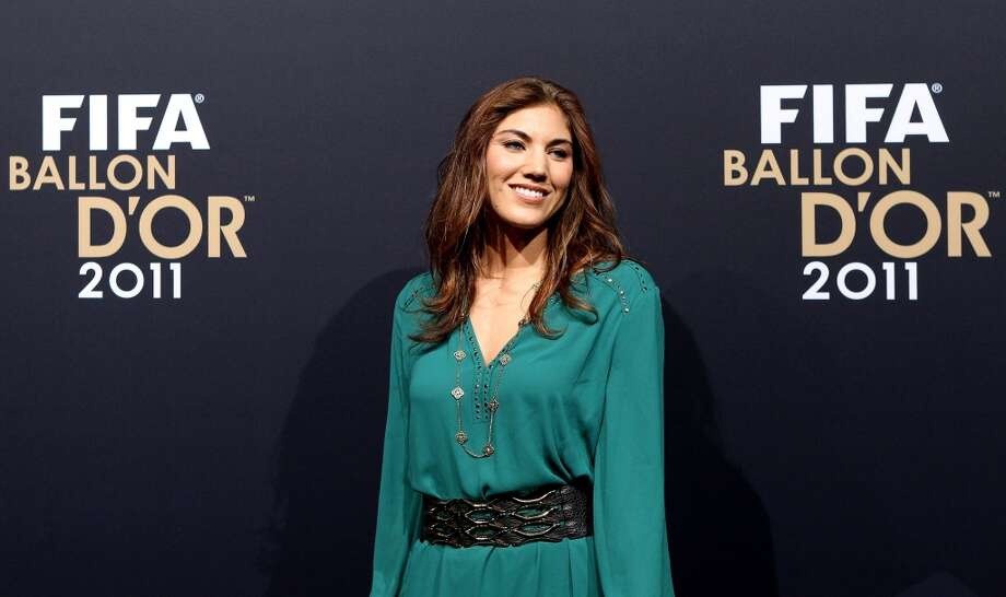 ZURICH, SWITZERLAND - JANUARY 09:  Hope Solo of USA during the red carpet arrivals for the FIFA Ballon d'Or Gala 2011 on January 9, 2012 in Zurich, Switzerland.  (Photo by Scott Heavey/Getty Images) Photo: Getty Images
