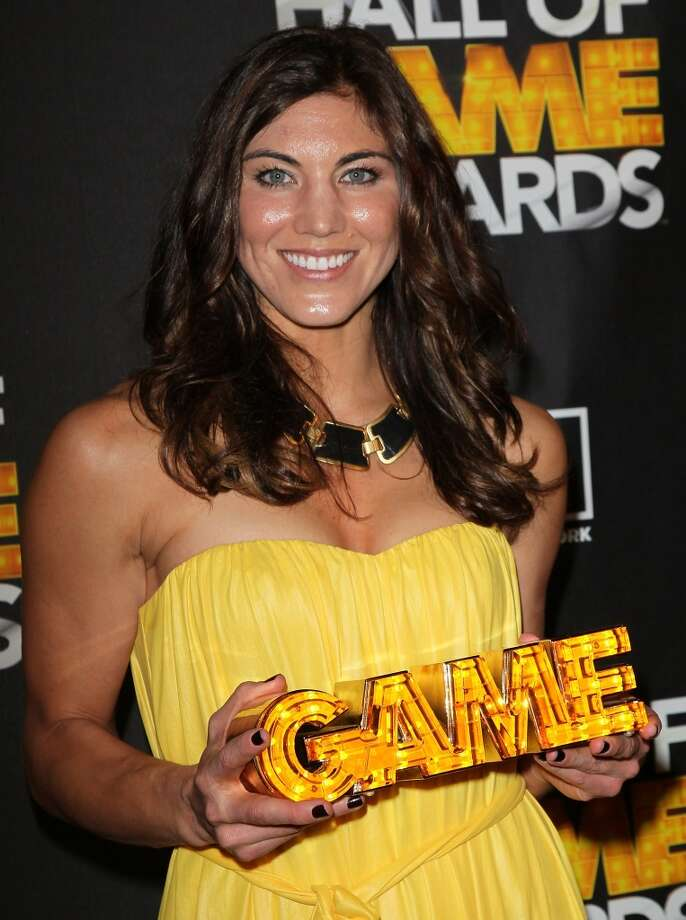 SANTA MONICA, CA - FEBRUARY 18:  Soccer player Hope Solo poses in the press room during the 2nd Annual Cartoon Network Hall of Game Awards at Barker Hangar on February 18, 2012 in Santa Monica, California.  (Photo by David Livingston/Getty Images) Photo: Getty Images