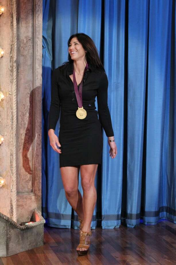 LATE NIGHT WITH JIMMY FALLON -- Episode 683 -- Pictured: Soccer player Hope Solo arrives on August 15, 2012 -- (Photo by: Lloyd Bishop/NBC/NBCU Photo Bank via Getty Images) Photo: NBCU Photo Bank Via Getty Images