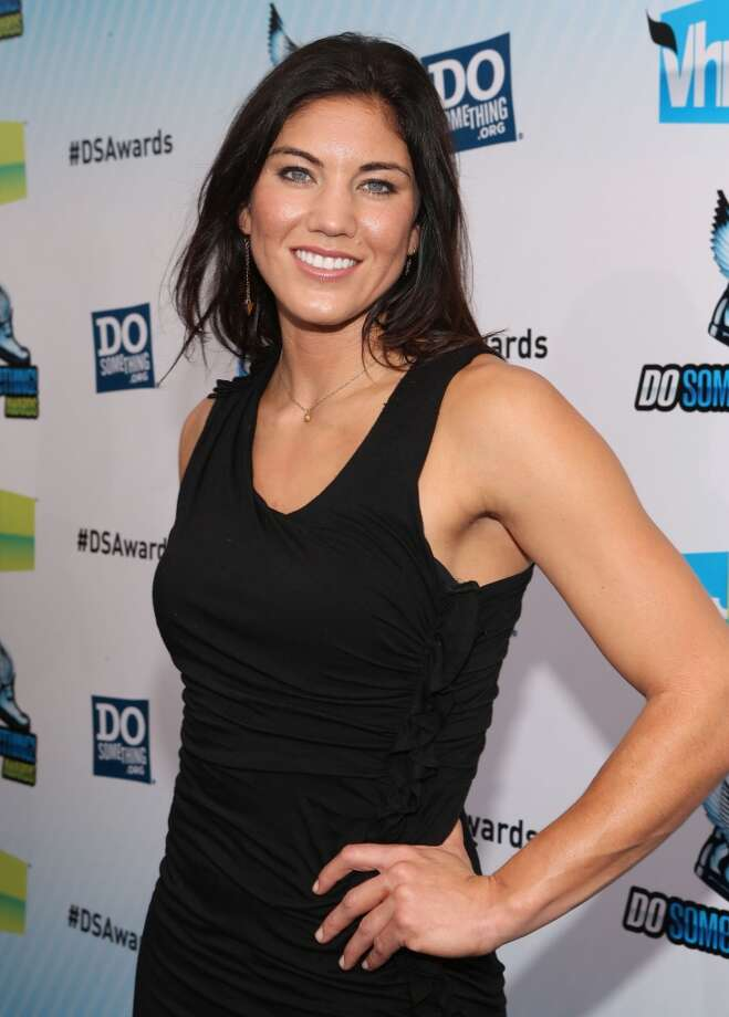 SANTA MONICA, CA - AUGUST 19:  Olympic soccer player Hope Solo arrives at the 2012 Do Something Awards at Barker Hangar on August 19, 2012 in Santa Monica, California.  (Photo by Christopher Polk/Getty Images  for VH1)