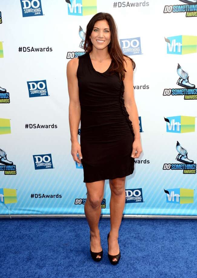 SANTA MONICA, CA - AUGUST 19:  Olympic soccer player Hope Solo arrives at the 2012 Do Something Awards at Barker Hangar on August 19, 2012 in Santa Monica, California.  (Photo by Jason Merritt/Getty Images) Photo: Getty Images