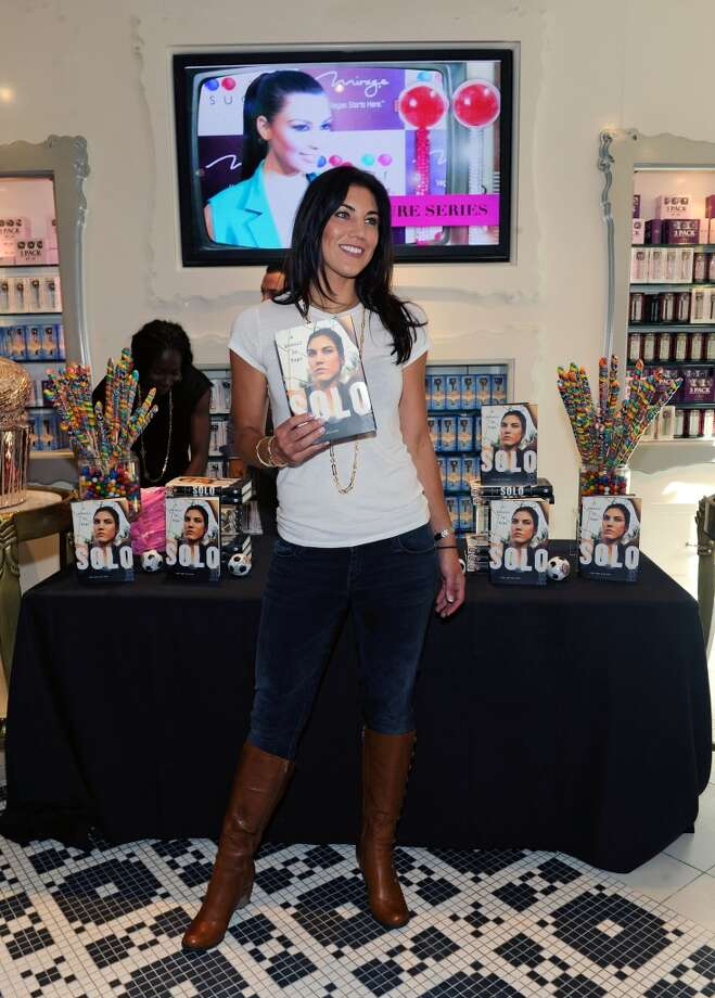LAS VEGAS, NV - SEPTEMBER 28:  Olympic soccer player Hope Solo attends her book signing at the Sugar Factory at the Paris Las Vegas on September 28, 2012 in Las Vegas, Nevada.  (Photo by David Becker/WireImage) Photo: WireImage