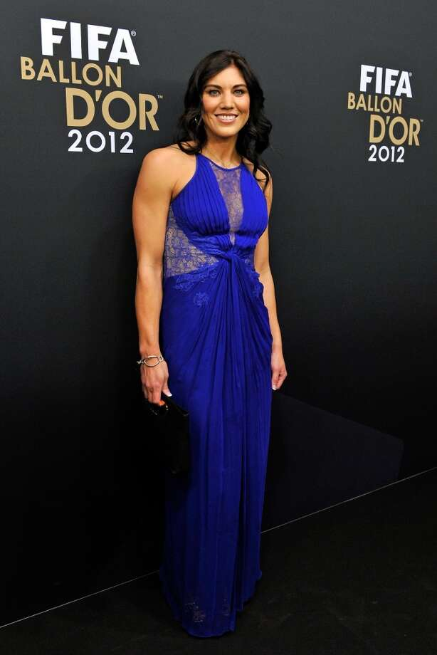 ZURICH, SWITZERLAND - JANUARY 07:  Hope Solo poses during the red carpet arrivals of the FIFA Ballon d'Or Gala 2013 at Congress House on January 7, 2013 in Zurich, Switzerland.  (Photo by Harold Cunningham/Getty Images) Photo: Getty Images