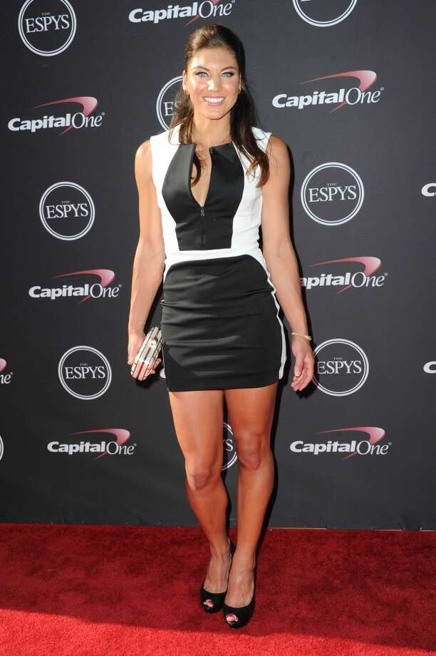 LOS ANGELES, CA - JULY 17:  Goalkeeper Hope Solo arrives at the 2013 ESPY Awards at Nokia Theatre L.A. Live on July 17, 2013 in Los Angeles, California.  (Photo by Allen Berezovsky/WireImage) Photo: WireImage