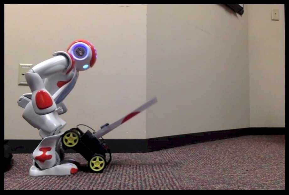 Robots using a prototype morality software that is being developed at Rensselaer Poliytechnical Institute under a research project sponsored by the U.S. Navy.