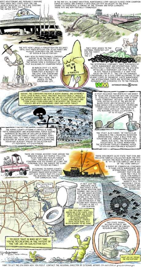 How the full-page cartoon appeared in the newspaper.