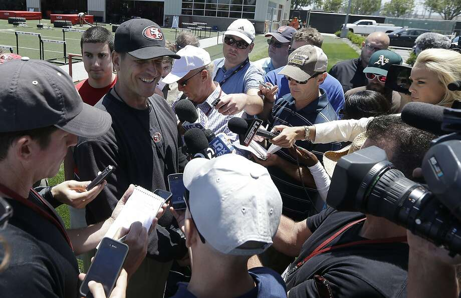 Jim Harbaugh's players have mostly themselves to blame for transgressions in recent seasons. Photo: Jeff Chiu, Associated Press