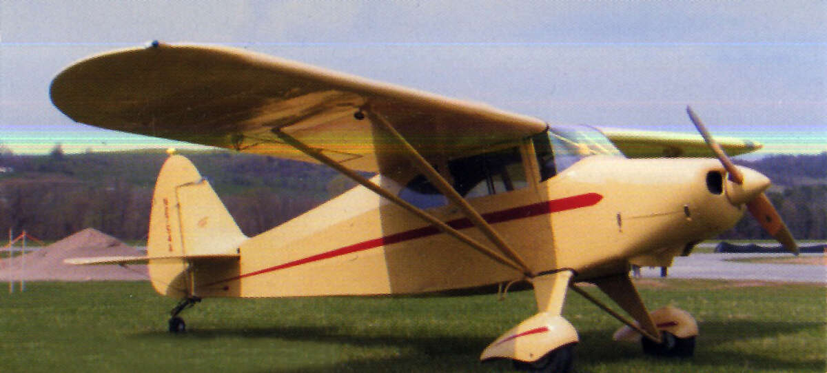 Handout photo of 1949 Piper Clipper single-engine airplane owned by Fred Jackson of Niskayuna. (Provided)