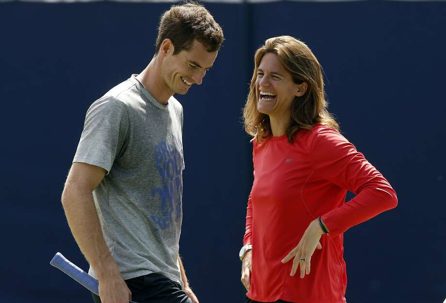 Last summer, Andy Murray became the first British man since 1936 to win Wimbledon. This year, he's brought a new personal coach, former player Amelie Mauresmo. Photo: Sang Tan, Associated Press