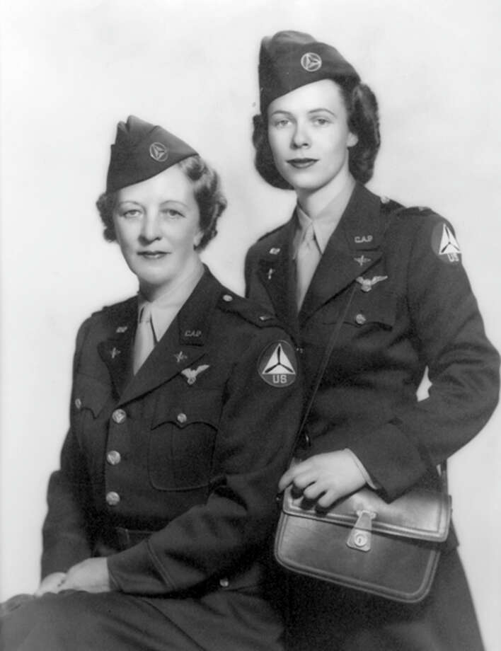 Molly Cummings Minot Cook, right, and her mother, Marian Engle Cummings, joined the Civil Air Patrol in 1942. Photo: Contributed Photo / Greenwich Time Contributed