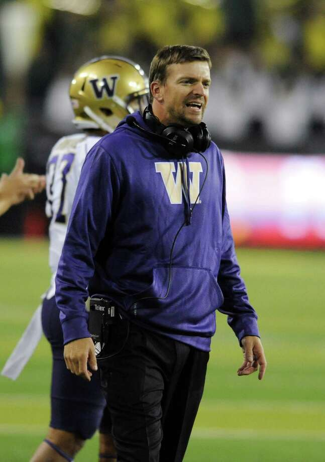 Justin Wilcox, UW assistant football coachSalary: $799,259 (2013). Photo: Steve Dykes, Getty Images / 2012 Getty Images