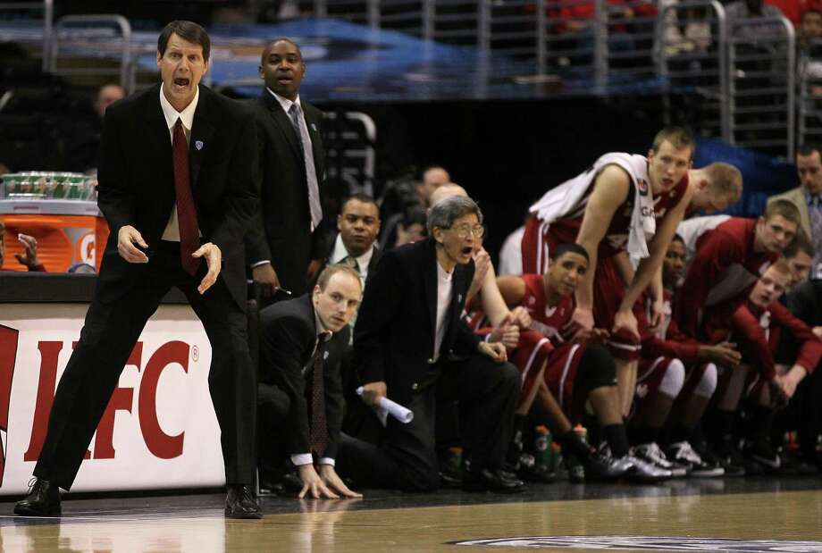 Ken Bone, Washington State University basketball coachSalary: $870,143 (2013). Bone lost his job in 2014.  Photo: Jeff Gross, Getty Images / 2011 Getty Images