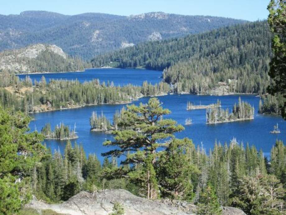 A short hike leads to this overlook of Echo Lakes near South Lake Tahoe Photo: Tom Stienstra