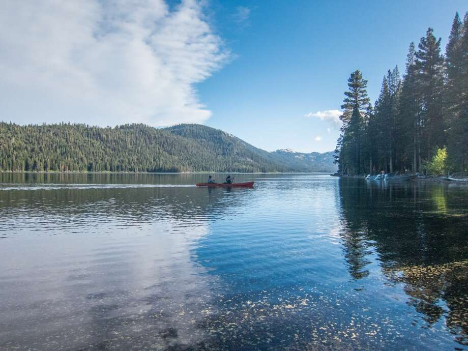 Independence Lake north of Truckee is full, with free kayaks available to paddle Photo: Simon Williams/The Nature Conservancy