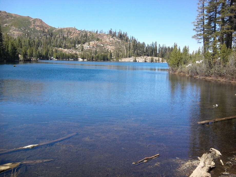 A short walk from Carr and Feely lakes leads to Island Lake in Bowman Lakes Recreation Area, near Emigrant Gap in central Sierra
