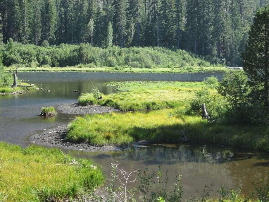 Lily Pond Lake at Glen Alpine Trailhead past Fallen Leaf Lake near South Lake Tahoe Photo: Tom Stienstra