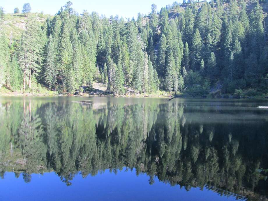 Buck Lake can provide mirror image, a short day hike in Siskiyou Wilderness in Del Norte County Photo: Tom Stienstra