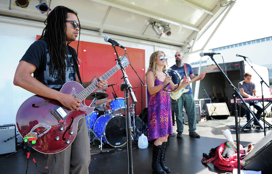 Jen Durkin and the Business performs during the 5th Annual Soupstock Music and Arts Festival in Shelton, Conn. on Saturday June 21, 2014. The festival continues on Sunday from 11-6. Photo: Christian Abraham / Connecticut Post