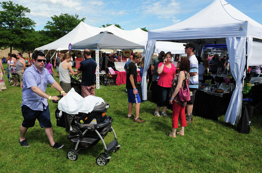 The 5th Annual Soupstock Music and Arts Festival in Shelton, Conn. on Saturday June 21, 2014. The festival continues on Sunday from 11-6. Photo: Christian Abraham / Connecticut Post