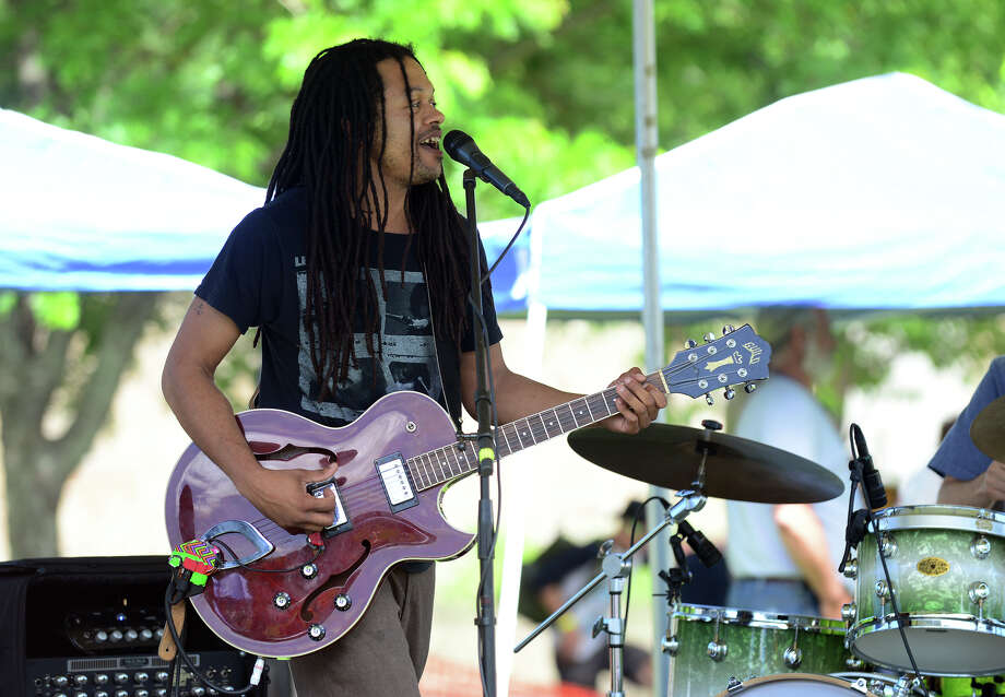 Darian Cunning of the Darian Cunning Band, performs during the 5th Annual Soupstock Music and Arts Festival in Shelton, Conn. on Saturday June 21, 2014. The festival continues on Sunday from 11-6. Photo: Christian Abraham / Connecticut Post